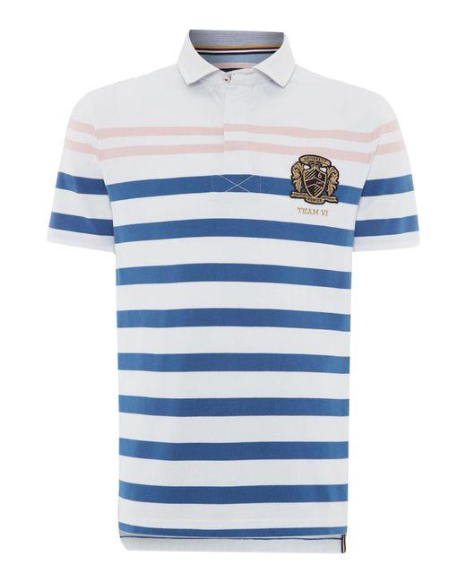 Howick | White Weston Stripe Short Sleeve Rugby for Men | Lyst