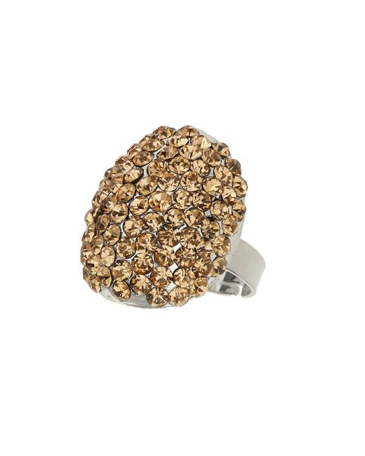 Mikey - Metallic Oval Ring - Lyst