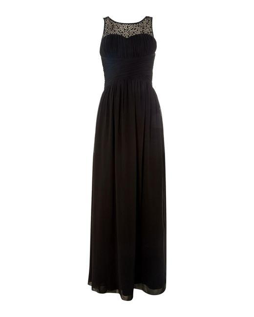 Little Mistress   Black Beaded Top Maxi Dress   Lyst