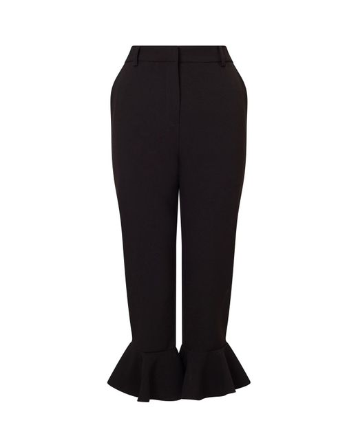 James Lakeland Black Short Bell Hem Trousers