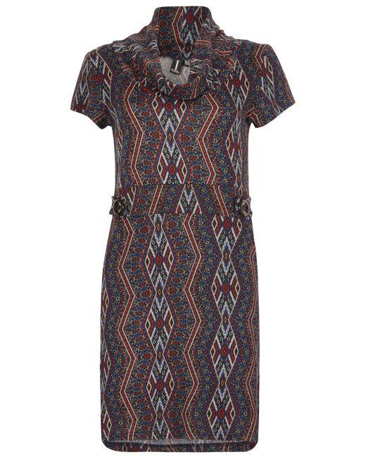Izabel London   Multicolor Aztec Print Roll Neck Tunic Dress   Lyst