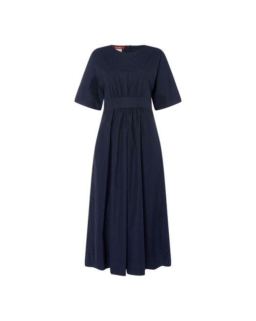 Max Mara Studio Blue Mms Cimi Midi Dress Ld92