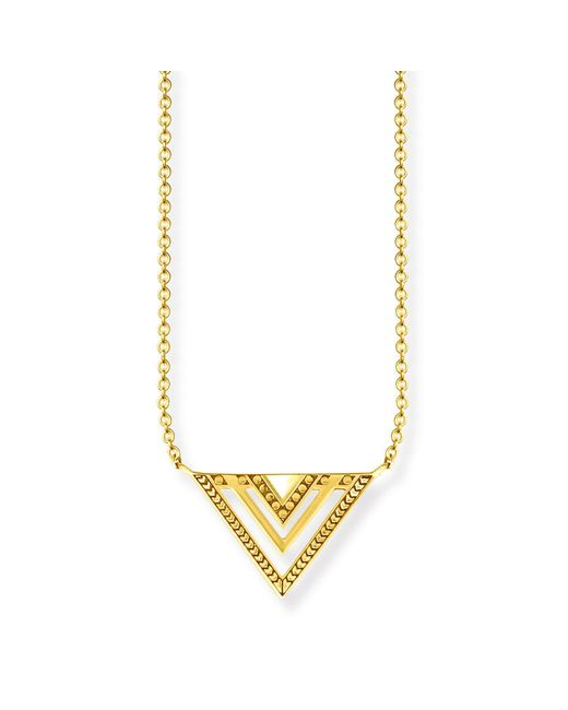 Thomas Sabo | Metallic Yellow Gold Triangle Africa Necklace | Lyst
