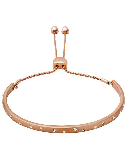 Pilgrim - Metallic Rose Gold Plated Cuff Bracelet - Lyst