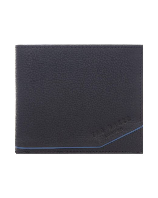 Ted Baker | Black Persia Coloured Leather Bi-fold Wallet for Men | Lyst