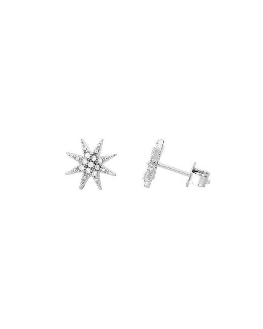 Azendi - Metallic Sterling Silver North Star Stud Earrings - Lyst
