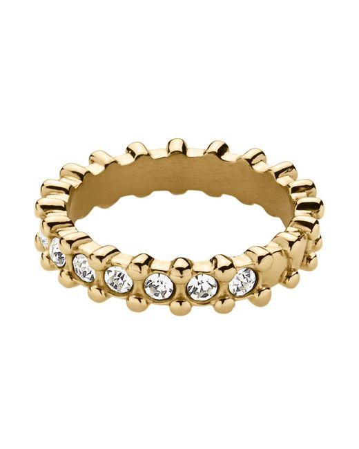 Dyrberg/Kern | Metallic Gafa Shiny Gold Crystal Ring | Lyst