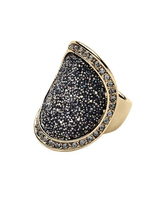 Dyrberg/Kern | Metallic Carly Shiny Gold Grey Ring | Lyst