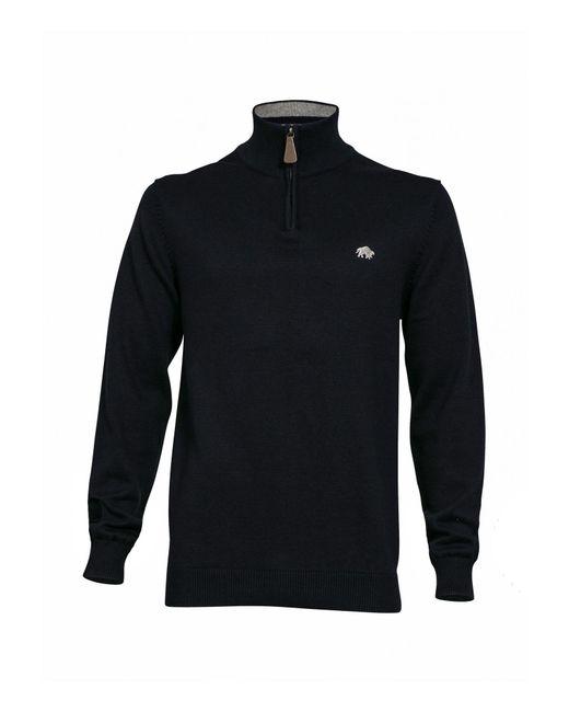Raging Bull | Blue Big & Tall Knitted Quarter Zip Neck for Men | Lyst