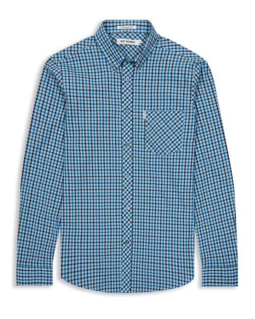 Ben Sherman | Blue Heritage House Check Long Sleeve Shirt for Men | Lyst