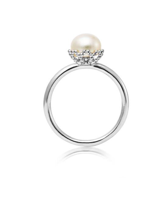 Jersey Pearl | Metallic Emma Kate White Pearl Filigree Ring | Lyst