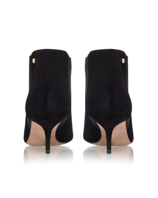 Kurt geiger Ezra Kitten Heeled Shoe Boots in Black   Lyst