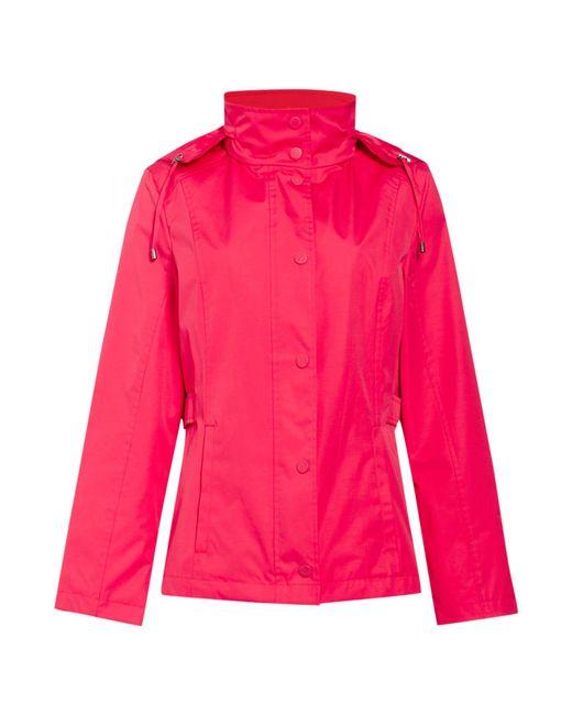 Cloud Nine | Pink Short Jacket With Packaway Hood | Lyst