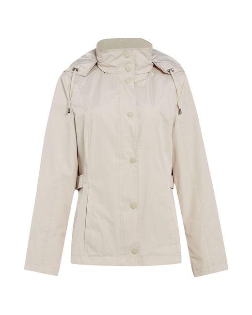 Cloud Nine | Gray Short Jacket With Packaway Hood | Lyst