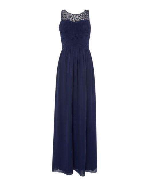 Little Mistress | Blue Beaded Top Maxi Dress | Lyst