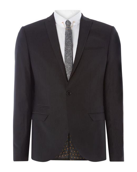 Label Lab | Black Rutherford Peak Lapel Skinny Suit Jacket for Men | Lyst