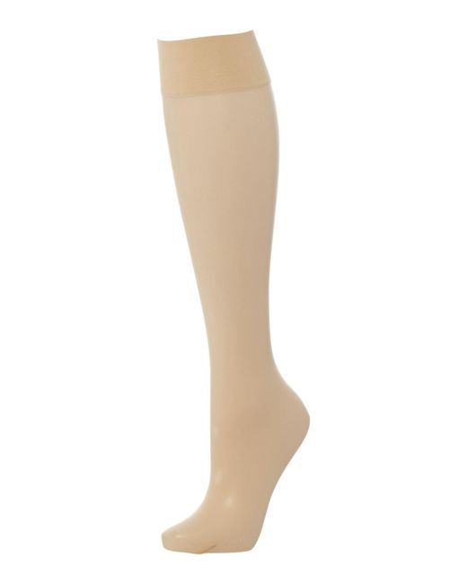Wolford | Natural Transparency 10 Denier Knee Highs | Lyst