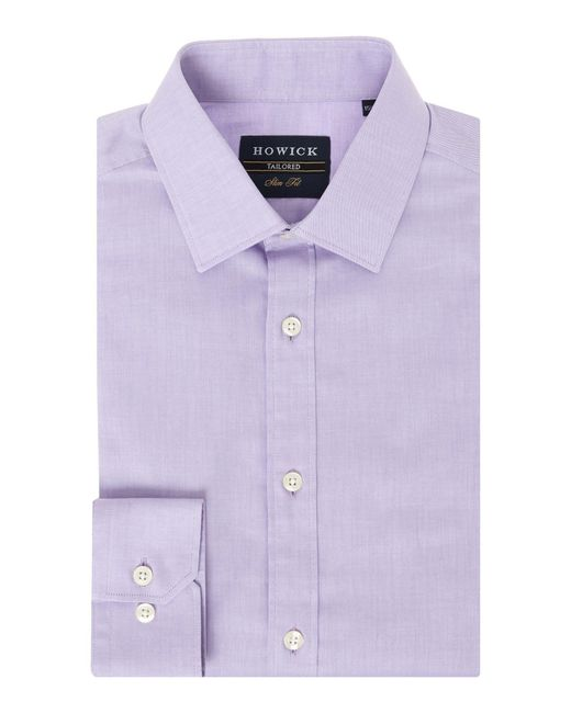 Howick | Purple Canyon Twill Shirt for Men | Lyst