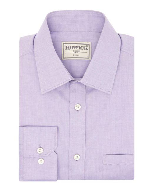 Howick | Purple Charter Slim Fit Twill Shirt for Men | Lyst