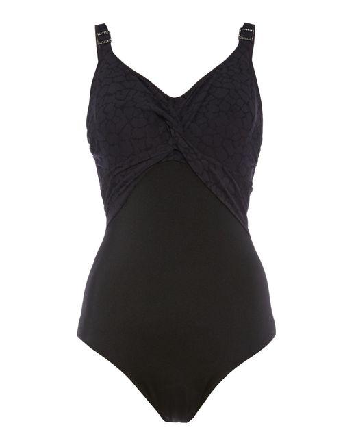 Fantasie | Black Montreal Underwired Twist Front Swimsuit | Lyst