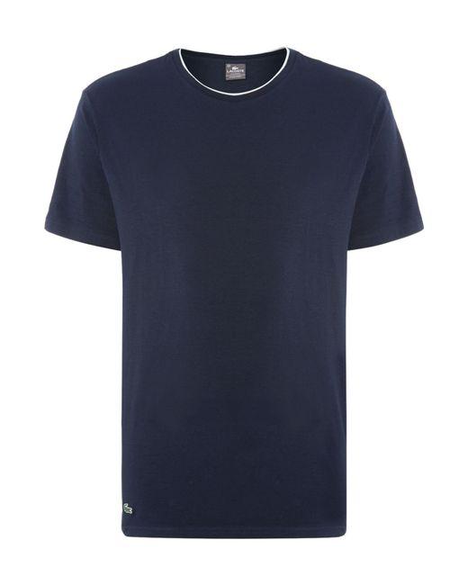 Lacoste | Blue Nightwear Crew Neck T-shirt for Men | Lyst