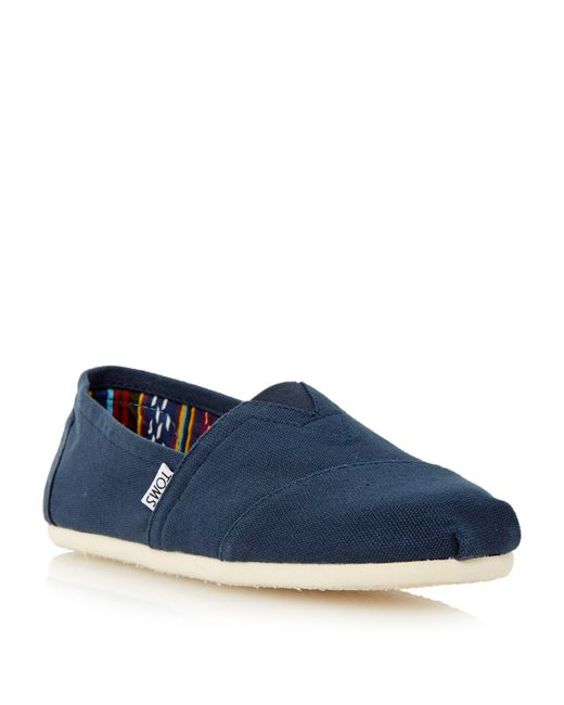 TOMS | Blue Classic Slip On Casual Espadrilles for Men | Lyst