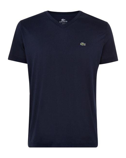 Lacoste | Blue V Neck T-shirt for Men | Lyst