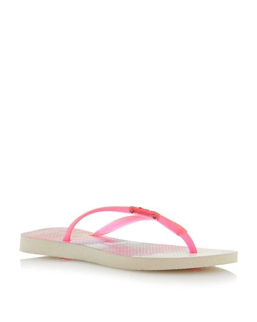 Havaianas | Pink 4132614 Fluoro Jelly Tropical Flip Flop | Lyst