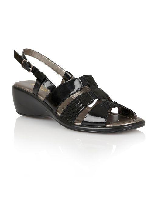 Lotus | Black Lantic Open Toe Sandals | Lyst