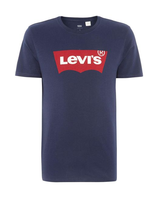 Levi's | Blue Regular Fit Batwing Printed T Shirt for Men | Lyst