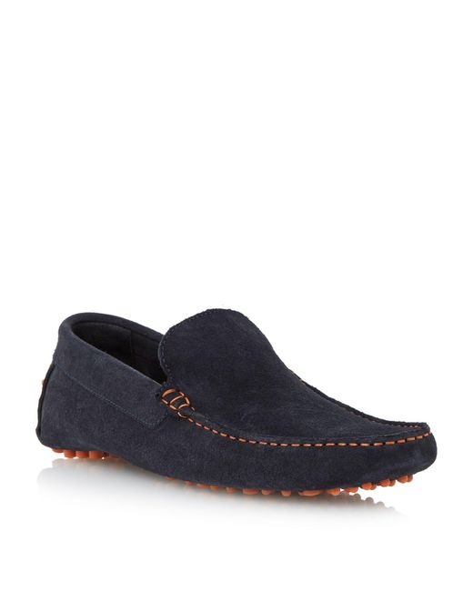 Dune | Blue Bermuda Contrast Stitch Driver Loafer for Men | Lyst