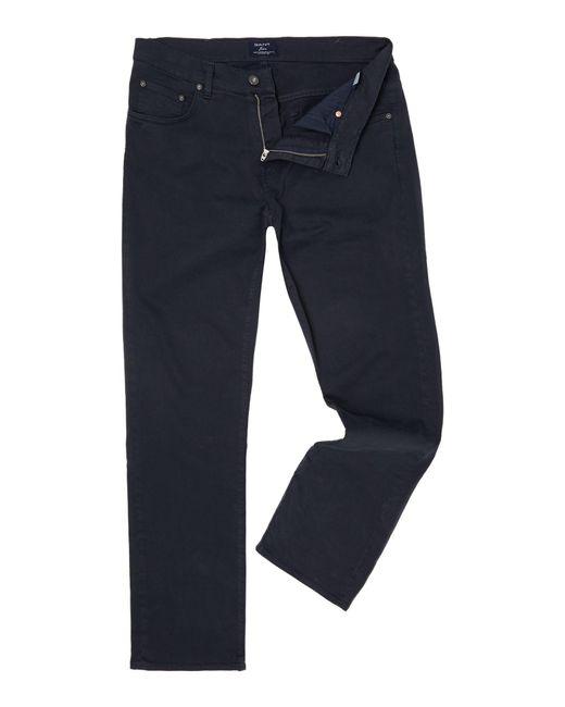 Gant | Blue Jason Comfort Desert Twill Jeans for Men | Lyst