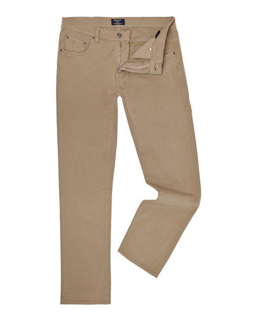 GANT | Brown Jason Comfort Desert Twill Jeans for Men | Lyst
