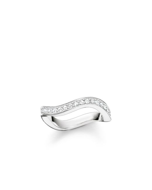 Thomas Sabo | Metallic Glam & Soul Silver Wave Ring | Lyst