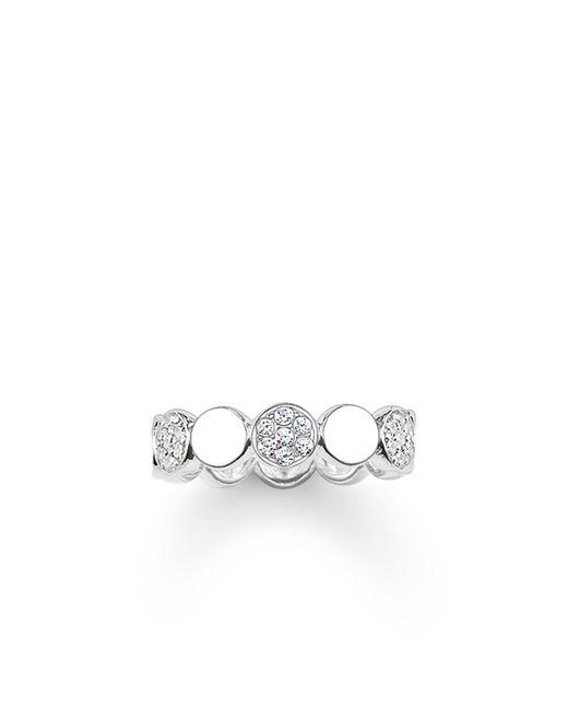 Thomas Sabo   Metallic Sparkling Circles White Pave Silver Ring   Lyst