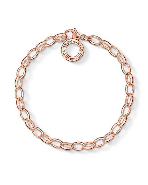 Thomas Sabo | Metallic Charm Club Charm Bracelet In Rose Gold | Lyst