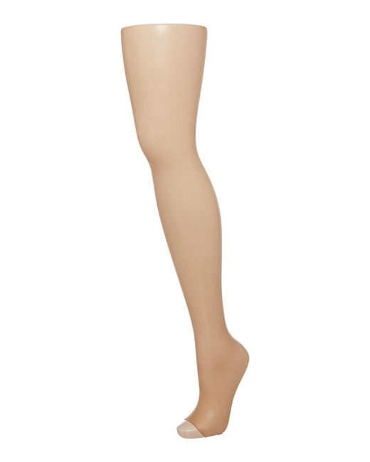 Wolford | Brown Luxe 9 Denier Toeless Tights | Lyst