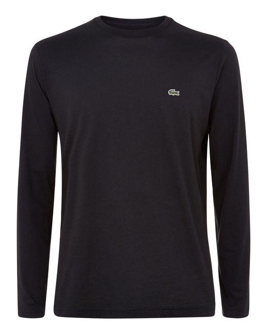 Lacoste | Black Long Sleeved T-shirt for Men | Lyst
