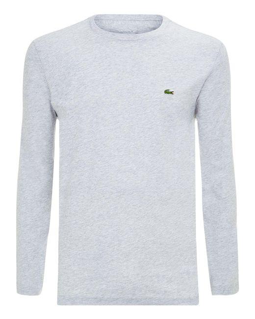 Lacoste | Gray Long Sleeved T-shirt for Men | Lyst