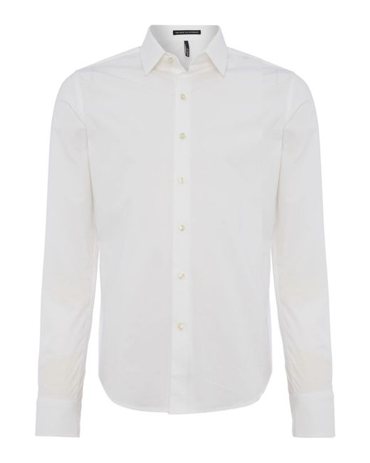 Replay | White Stretch Popeline Shirt for Men | Lyst