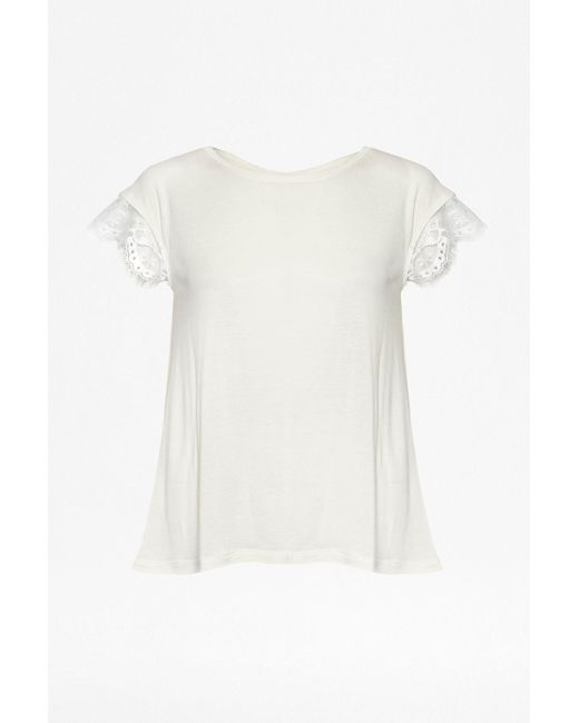 Great Plains | Natural Quantic Jersey Pleats Back Top | Lyst