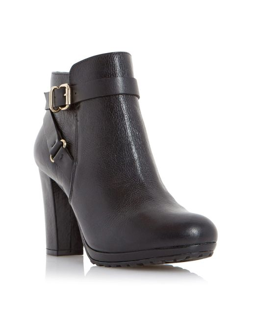 Dune | Black Rosalind Leather Mid-calf Boots | Lyst
