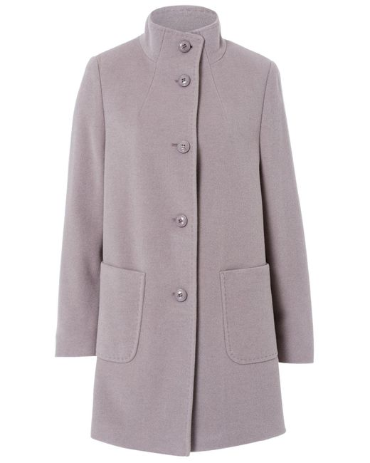 Basler | Gray Wool Coat With Cashmere | Lyst