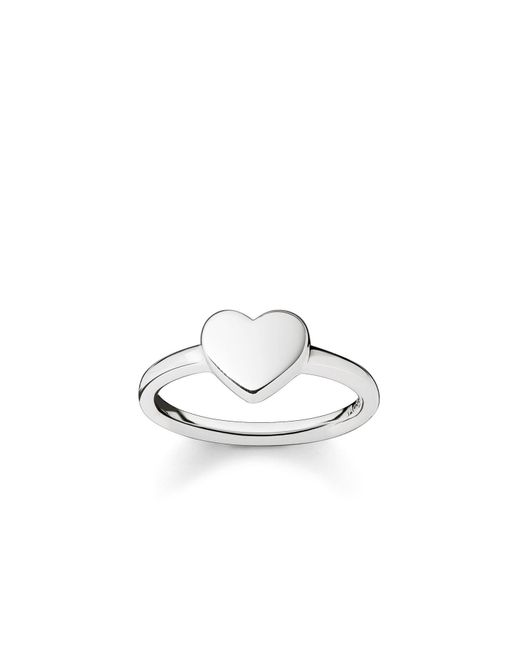 Thomas Sabo | Metallic Classic Silver Heart Ring | Lyst