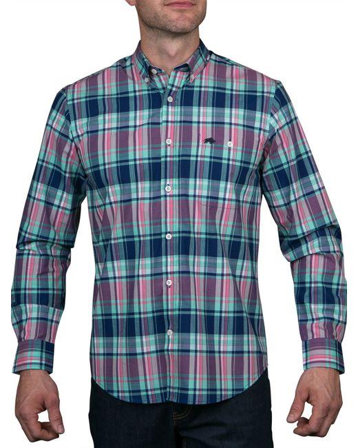Raging bull madras check shirt in multicolor for men lyst for Mens madras shirt sale