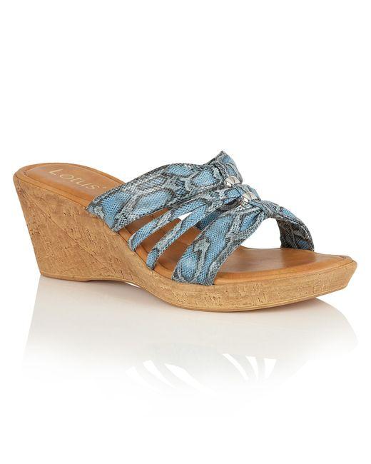 Lotus | Blue Adona Wedge Mules | Lyst