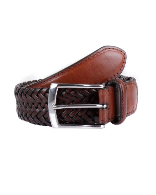 dents mens plaited leather belt in brown for save 20