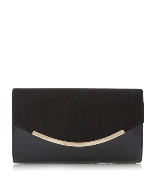 Dune | Black Belise Foldover Clutch Bag | Lyst