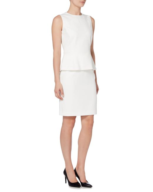 vilea1 fitted pencil skirt in white lyst