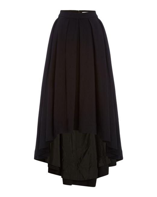 talulah split front midi skirt in black lyst